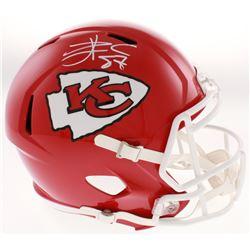 Travis Kelce Signed Kansas City Chiefs Full-Size Speed Helmet (Radtke COA)