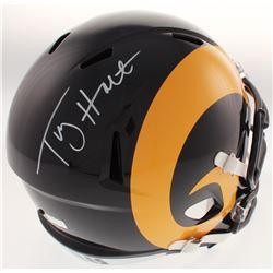 Torry Holt Signed St. Louis Rams Full-Size Color Rush Speed Helmet (Radtke COA)