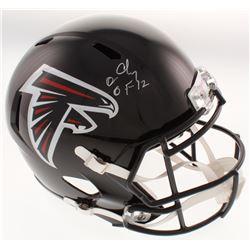 "Chris Doleman Signed Atlanta Falcons Full-Size Speed Helmet Inscribed ""HOF 12"" (Radtke COA)"