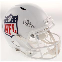 "Chris Doleman Signed NFL Logo Full-Size Speed Helmet Inscribed ""HOF 12"" (Radtke COA)"