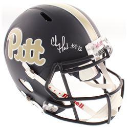 "Chris Doleman Signed Pittsburgh Panthers Full-Size Speed Helmet Inscribed ""HOF 12"" (Radtke COA)"