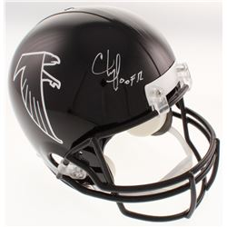 "Chris Doleman Signed Atlanta Falcons Full-Size Throwback Helmet Inscribed ""HOF 12"" (Radtke COA)"