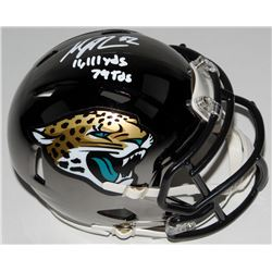 "Maurice Jones-Drew Signed Jacksonville Jaguars Chrome Speed Mini Helmet Inscribed ""11,111 yds""  ""79"