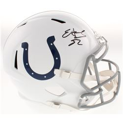 Edgerrin James Signed Indianapolis Colts Full-Size Speed Helmet (Radtke COA)