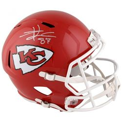Travis Kelce Signed Kansas City Chiefs Full-Size Speed Helmet (Fanatics Hologram)