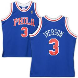 "Allen Iverson Signed Philadelphia 76ers Jersey Inscribed ""97 ROY"" (Fanatics Hologram)"