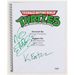 "Vanilla Ice  Kevin Eastman Signed ""Teenage Mutant Ninja Turtles II: The Secret of the Ooze"" Movie Sc"