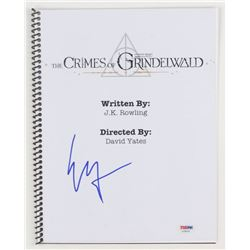 "Ezra Miller Signed ""Fantastic Beasts: The Crimes of Grindelwald"" Movie Script (PSA Hologram)"