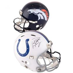 Peyton Manning Signed Denver Broncos / Indianapolis Colts Full-Size Authentic On-Field Helmet (Fanat