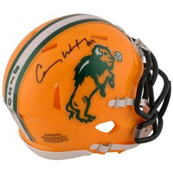 "Carson Wentz Signed North Dakota State Bison Speed Mini Speed Helmet Inscribed ""AO1"" (Fanatics Holog"