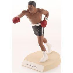 "Muhammad Ali Signed LE Black Trunks ""The Greatest"" 9"" Porcelain Figurine with Original Box (Salvino"