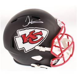 Tyreek Hill Signed Kansas City Chiefs Full-Size Matte Black Speed Helmet (JSA COA)