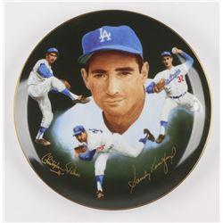 Sandy Koufax Signed Los Angeles Dodgers Porcelain Plate (Hackett Authentic)