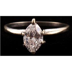 Solitaire .93ct Marquise Brilliant Diamond Ring