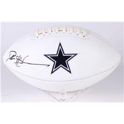 Deion Sanders Signed Dallas Cowboys Logo Football (Beckett COA)