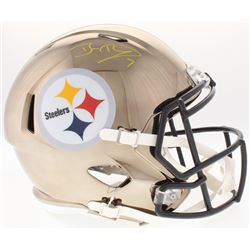 Ben Roethlisberger Signed Pittsburgh Steelers Full-Size Chrome Speed Helmet (Fanatics Hologram)