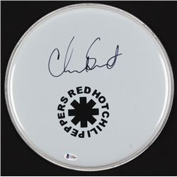 """Chad Smith Signed Red Hot Chili Peppers 12.5"""" Drum Head (Beckett COA)"""