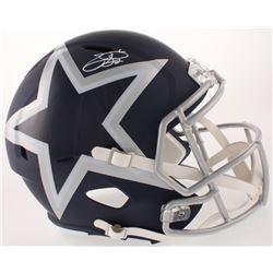 Emmitt Smith Signed Dallas Cowboys Full-Size AMP Alternate Speed Helmet (Beckett COA  Prova COA)