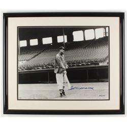 Ted Williams Signed LE Boston Red Sox 21.5x25.5 Custom Framed Photo Display (Williams COA)