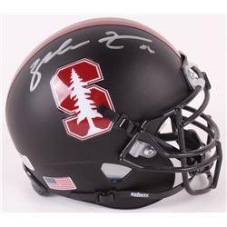Zach Ertz Signed Stanford Cardinal Matte Black Mini-Helmet (Radtke COA)