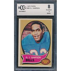 1970 Topps #90 O.J. Simpson (BCCG 8)