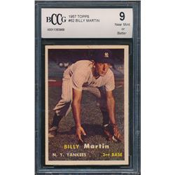 1957 Topps #62 Billy Martin (BCCG 9)