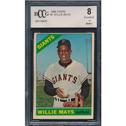 1966 Topps #1 Willie Mays (BCCG 8)
