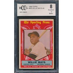 1959 Topps #563 Willie Mays All-Star (BCCG 8)