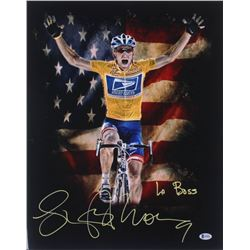 "Lance Armstrong Signed 16x20 Photo Inscribed ""Le Boss"" (Beckett COA)"