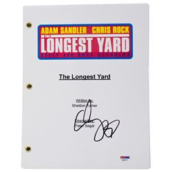 "Adam Sandler Signed ""The Longest Yard"" Movie Script (PSA COA)"