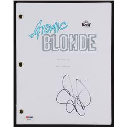 "Sofia Boutella Signed ""Atomic Blonde"" Movie Script (PSA COA)"