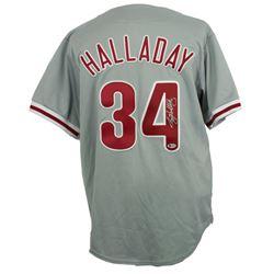 Roy Halladay Signed Philadelphia Phillies Majestic Jersey (Beckett LOA)
