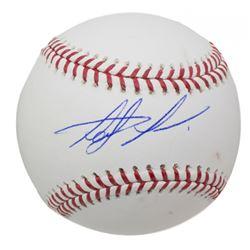 Fernando Taits Jr. Signed OML Baseball (JSA COA)