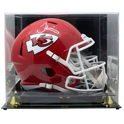 Tyreek Hill Signed Kansas City Chiefs Full-Size Speed Helmet with Display Case (JSA COA)