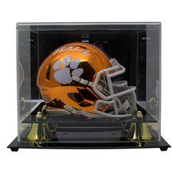 DeAndre Hopkins Signed Clemson Tigers Chrome Speed Mini Helmet with Display Case (JSA COA)