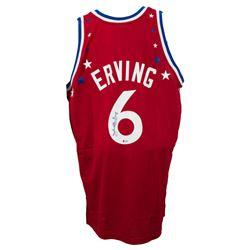 Julius Erving Signed Philadelphia 76ers Mitchell  Ness Jersey (Beckett Hologram)