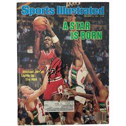 Michael Jordan Signed 1984 Sports Illustrated Magazine (Beckett LOA)