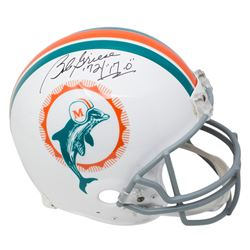 """Bob Griese Signed Miami Dolphins Full-Size Authentic On-Field Helmet Inscribed """"'72 / 17-0"""" (JSA COA"""