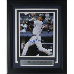 Hideki Matsui Signed New York Yankees 11x14 Custom Framed Photo Display (JSA COA)
