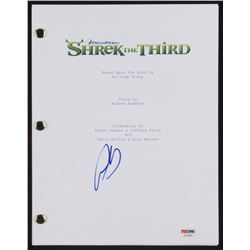"Antonio Banderas Signed ""Shrek the Third"" Movie Script (PSA COA)"