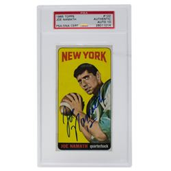 Joe Namath Signed 1965 Topps #122 SP RC (PSA Encapsulated)