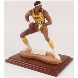 Wilt Chamberlain Signed LE Los Angeles Lakers Figurine (Sports Porcelains COA)