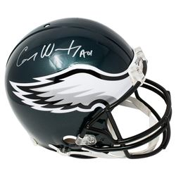 "Carson Wentz Signed Philadelphia Eagles Full Size Authentic On-Field Helmet Inscribed ""AO1"" (Fanatic"