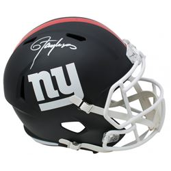 Lawrence Taylor Signed New York Giants Matte Black Full-Size Speed Helmet (JSA COA)