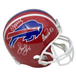 Jim Kelly, Thurman Thomas  Andre Reed Signed Bills Throwback Full-Size Helmet (JSA COA)