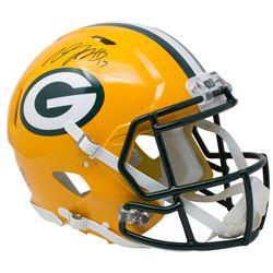 Davante Adams Signed Green Bay Packers Full-Size Authentic On-Field Speed Helmet (JSA COA)