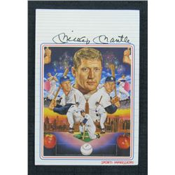Mickey Mantle Signed New York Yankees 4x6 Postcard (JSA LOA)