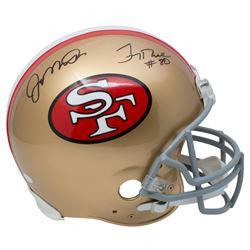 Joe Montana  Jerry Rice Signed San Francisco 49ers Full-Size Authentic On-Field Helmet (JSA COA)