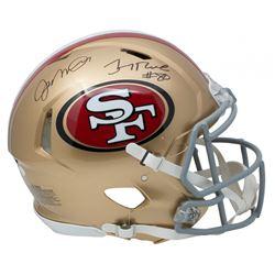 Joe Montana  Jerry Rice Signed San Francisco 49ers Full-Size Authentic On-Field Speed Helmet (JSA CO