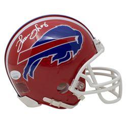 Thurman Thomas Signed Bills Mini Helmet (JSA COA)